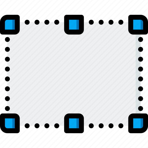 border, dotted, drawing, graphical, gui, tools, ui icon