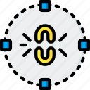 break, circle, constraint, drawing, gui, tools, ui icon