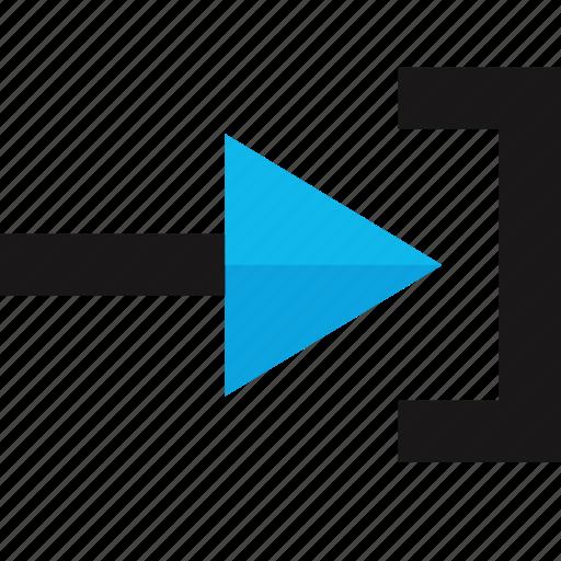 arrow, forward, go, interface, right icon