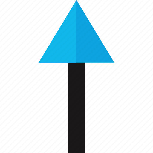 arrow, pointing, up, upload icon