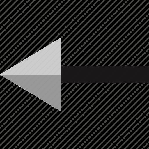 arrow, back, interface, pointer icon