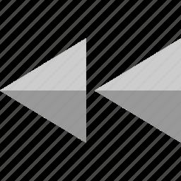 arrows, backward, left, rewind icon