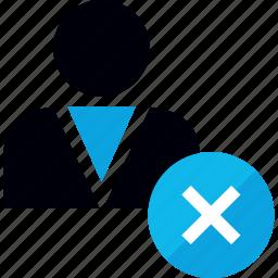 delete, deleted, denied, user icon