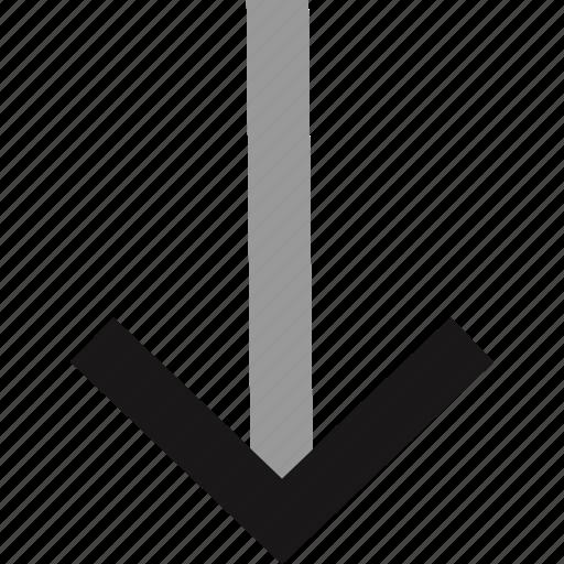 arrow, down, interface design, pointer icon