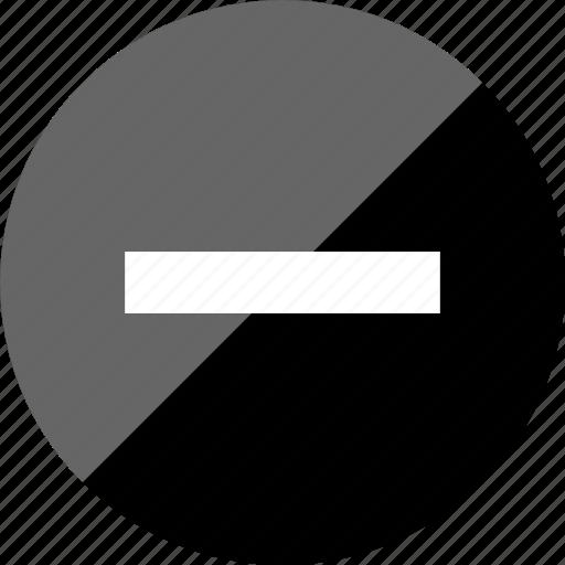 line, minus, negative, neutral icon