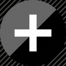 add, interface design, more, plus icon