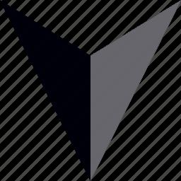 arrow, down, interface design, point icon