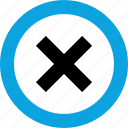 cross, delete, denied, interface, stop, stopped, user icon