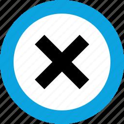 delete, denied, interface design, stop icon