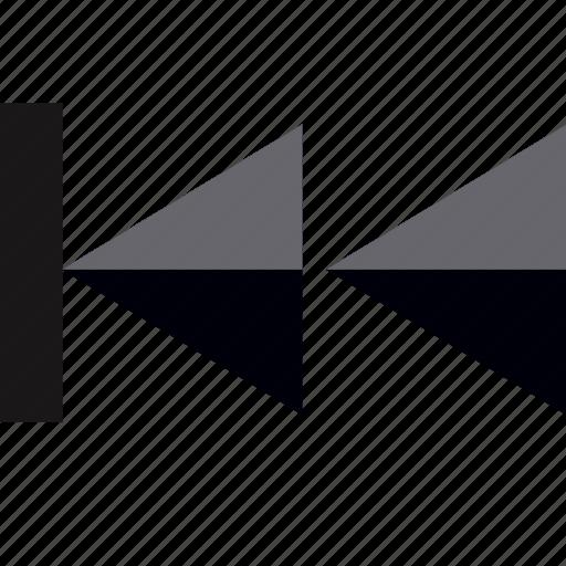 back, backwards, interface design, rewind track icon