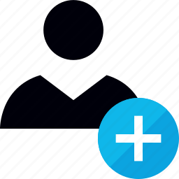 add, more, plus, user icon