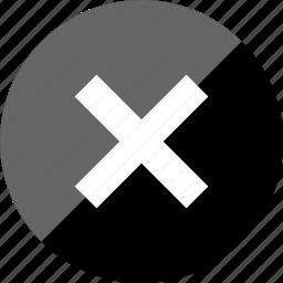 delete, interface design, stop, x icon