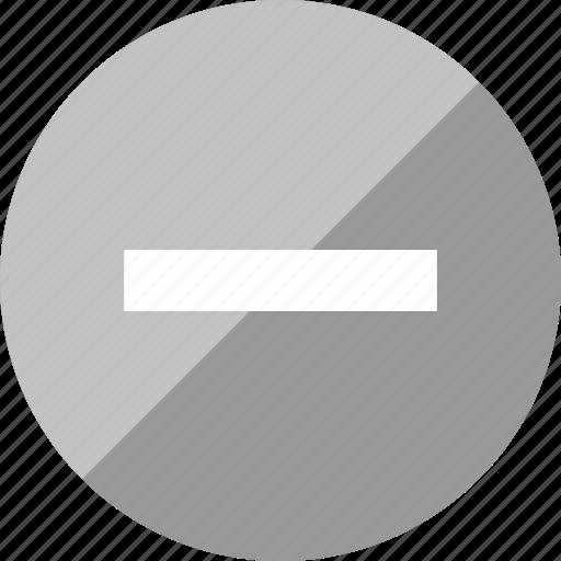 design, line, neutral, subtract icon