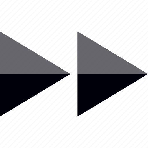 Arrows, fast, forward, go icon