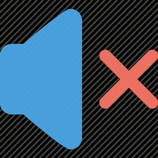 mute, sound disable, volume icon