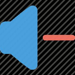 lower volume, minus, volume icon