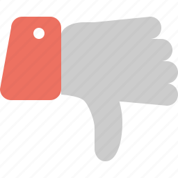dislike, down, down vote, thumbs icon