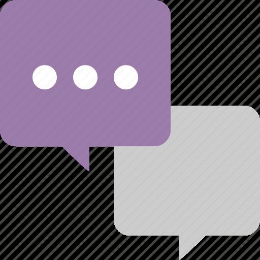 bubble, chat, messenger, multiple icon