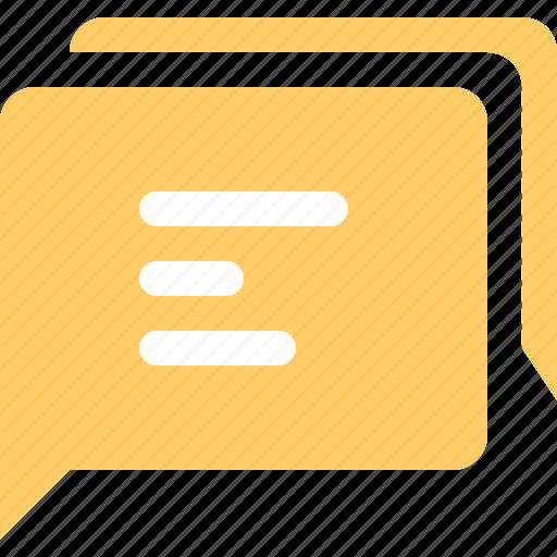 bubble, chat, message, multiple icon