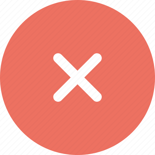 error, exit, invalid, remove icon