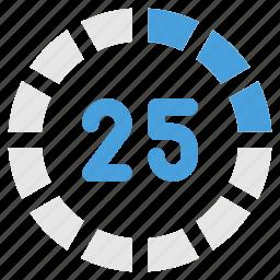 counter, progress, progress percent, timer icon