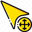 arrow, drawing, graphical, gui, move, tools, ui icon
