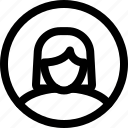 account, avatar, circle, male, profile, user, woman icon