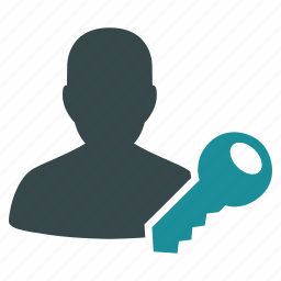 access key, client, open, password, secret, security, user login icon