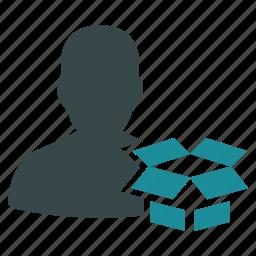 account, box, data, dropbox, guardar, mail, save, shipment icon