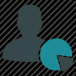 analytics, chart, client, data, graph, market, pie chart icon