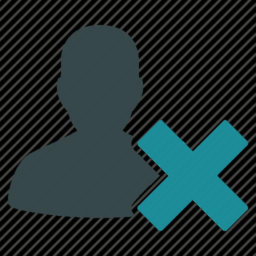 clear, delete, recycle bin, remove, trash, user, x cross icon