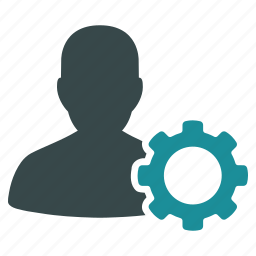 configuration, customer, gear, settings, support, tools, user icon