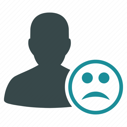 angry, bad, emoticon, emotion, sad, smile, user icon