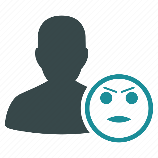emoticon, emotion, expression, face, hate, smiley, user icon