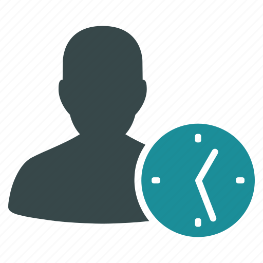 clock, customer, schedule, temporary, time, user, worker icon