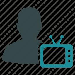 journalist, movie, news, show, talk, television, tv icon