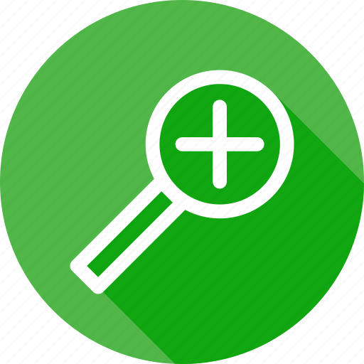 find, glass, lens, magnifier, search, zoom, zoomin icon