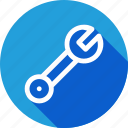 bolt, hardware, maintanence, nut, screw, tool, wrench icon