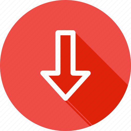 arrow, direction, down, download, way icon