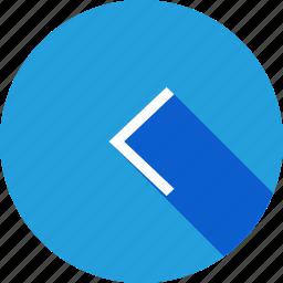 arrow, backword, direction, left, previous, way icon