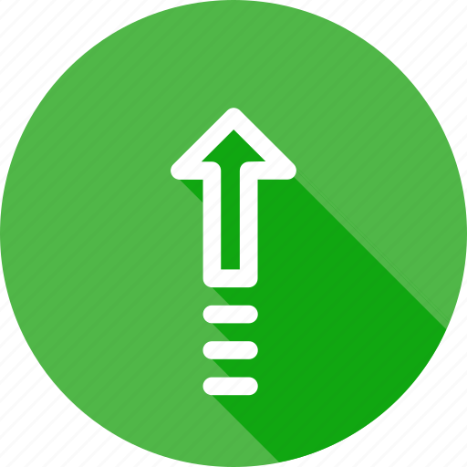 arrow, direction, speed, up, upload, way icon