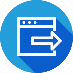 arrow, document, export, import, out, right, window icon