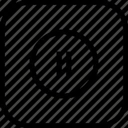 pause, play, round, stop, tool icon