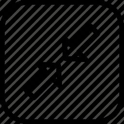 arrow, minimum, resize, small icon