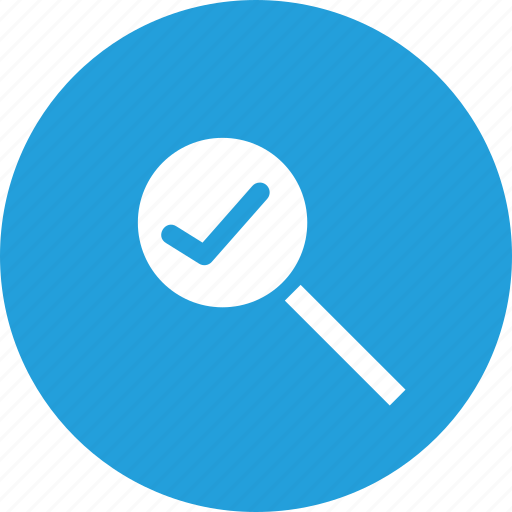 find, glass, lens, magnifier, search, verify, zoom icon