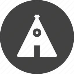 camp, night, tant, tracking, village icon