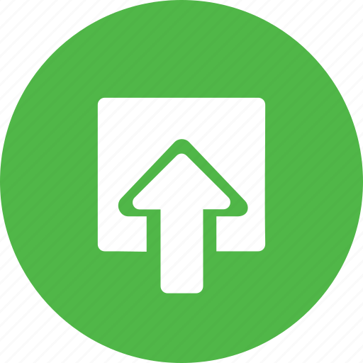 arrow, box, document, file, import, in, share icon