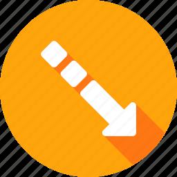 arrow, boost, decrease, fashion, square, way icon