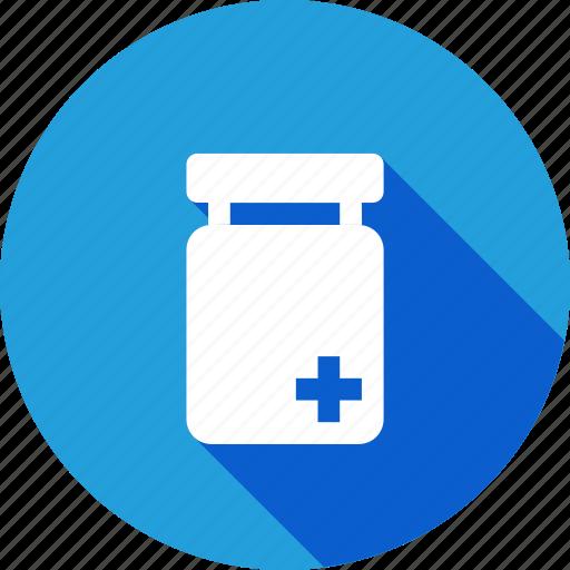 bottle, hospital, medical, medicine, plus, tfreatment icon