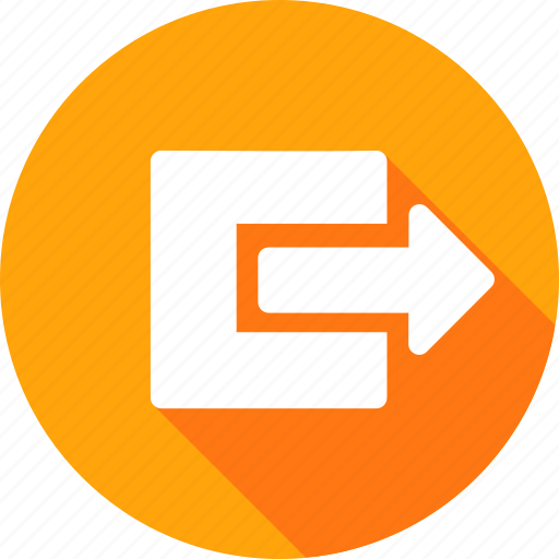 arrow, box, document, export, file, in, share icon